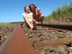 rotaie per il trasporto delle canne da zucchero a Bundaberg