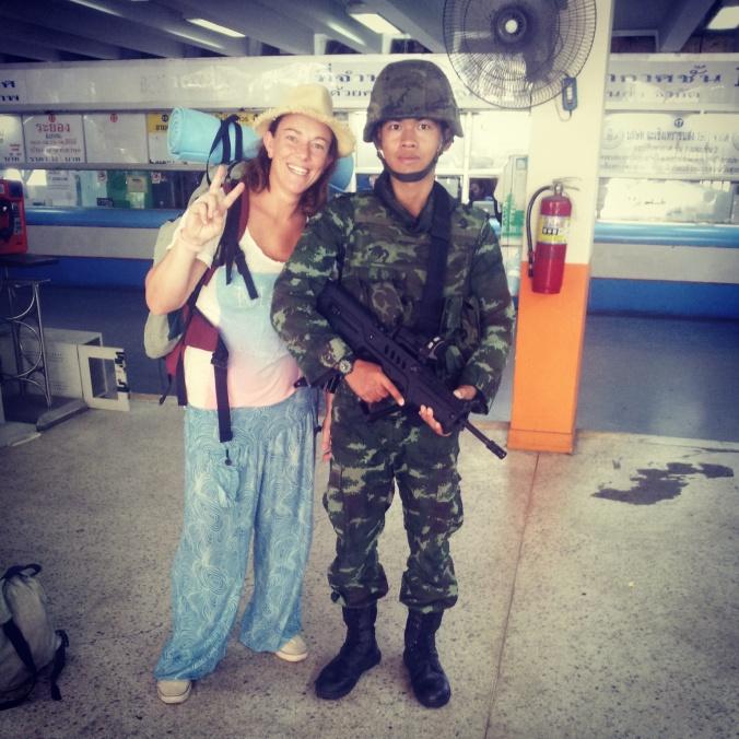 militari a Bangkok