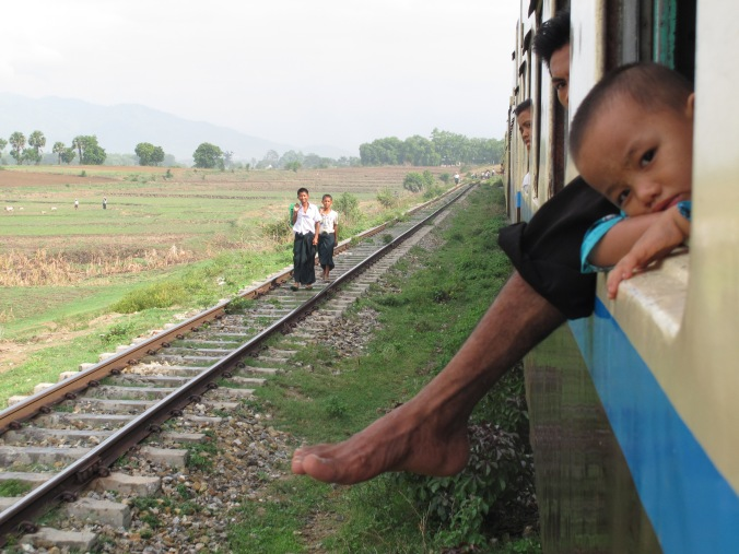 From Yangon to Thazi by train19