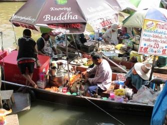 Mecato galleggiante Bangkok Thailand