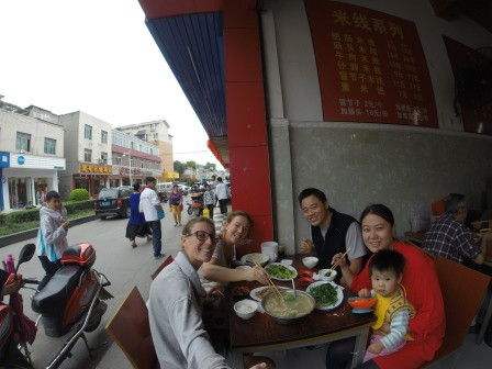 Xiao, CC e Yoyo di Chengdu
