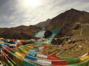 Yamdok lake in Gyantse