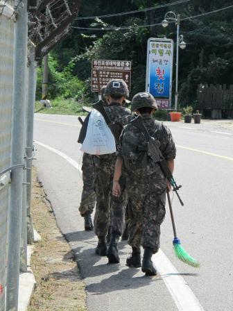 Militari vicino alla DMZ